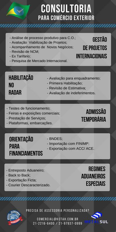 SERVIÇOS OFERECIDOS KOTAH BR : CONSULTORIA COMÉRCIO EXTERIOR
