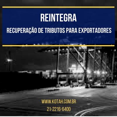 REINTEGRA EXPORTAÇÃO DU-E KOTAH BR